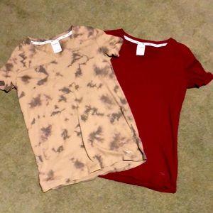 Victoria Secrets/PINK V-Neck t-shirt bundle -XS